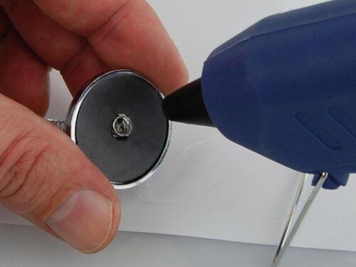 rundmagnet avec chrome ouverture au Bricolage de tifler 2 x Rond Magnétique