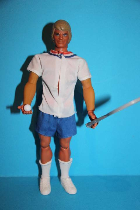 Vintage Big Jim action figure Big Jeff in rare COMPLETE TENNIS outfit