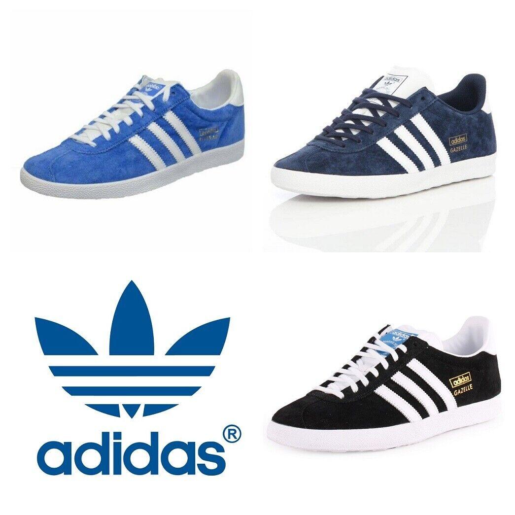 Adidas Originals Gazelle Zapatillas para hombre Informal Zapatos OG Cuero De Gamuza Negro