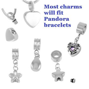 Image Is Loading Cremation Jewellery Charm Memory Ash Urn Bracelet Charms