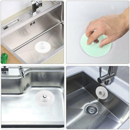 Silikon Badewannenstöpsel  Küche Waschbecken Ablauf Stopfen Spülbecken 4STK