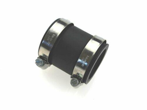 2 x connexion tuyaux avec chacune 2 Acier Inoxydable Colliers de serrage 38 x 5 x 60 mm