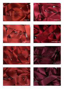 Double-Satin-Ribbon-Berisfords-Reds-amp-Wines-Shades-Short-Lengths-or-Full-Reels