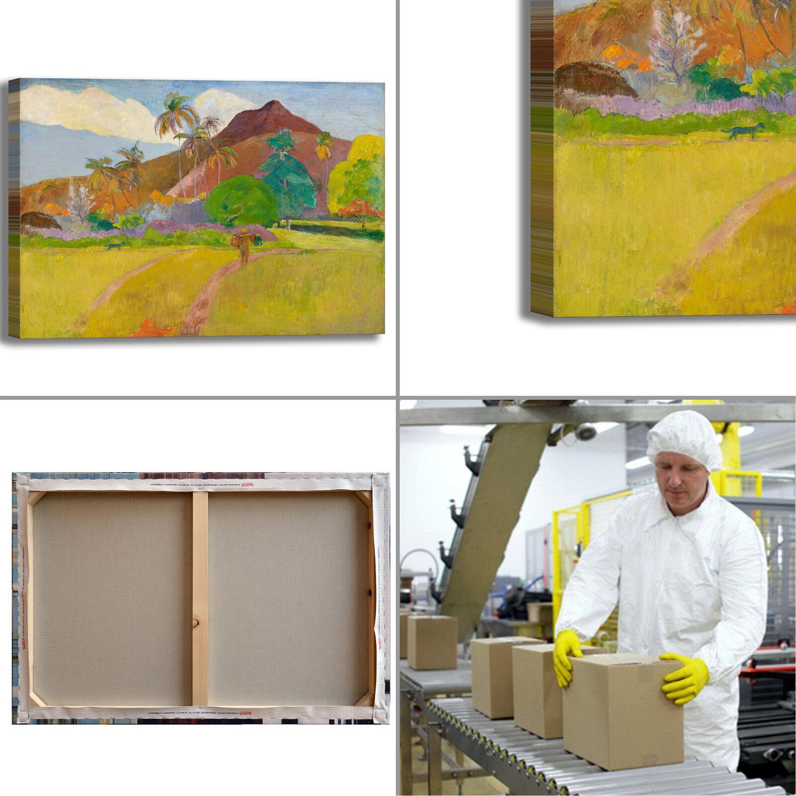 Gauguin paesaggio tahitiano design quadro stampa tela dipinto arRouge telaio arRouge dipinto o casa 4dc83e