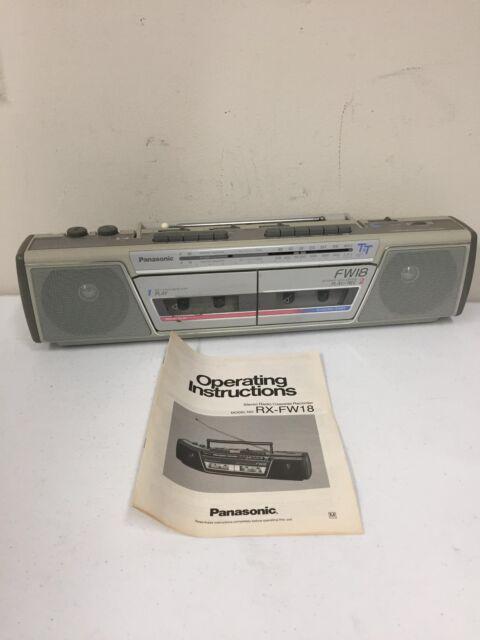 Vintage Panasonic Boombox Stereo Am Fm Cassette Radio Rx Fm14