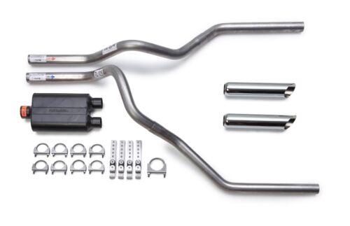 Dodge Ram 2009-2014 Dual Exhaust Flowmaster Super 44 Series Muffler Chrome Tips