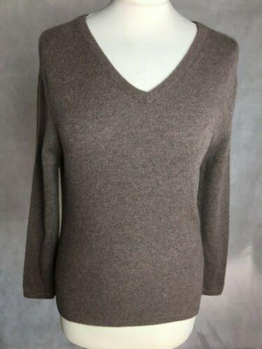 Ladies Sweater col à Cashmere en marron pour V 34 In 34 neck Stone pierre V Brown Pull Anna cachemire femmes 100 B 100 aOq1EE