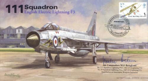 RAF signed cover 111 Sqn English Electric Lightning signed BETTELL OBE AV600