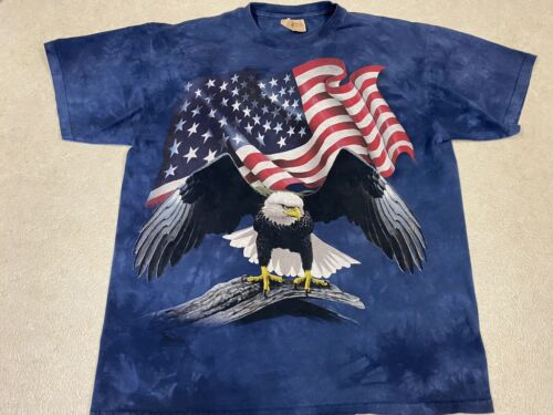 Faded American Flag /& Bald Eagles The Mountain T-Shirt 3718 All Sizes