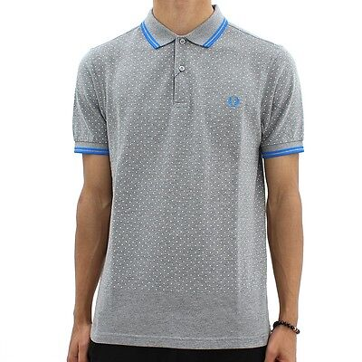 Fred Perry Men's Polo with Polka Dot Size: S / M /  L / XL *SLIM FIT*
