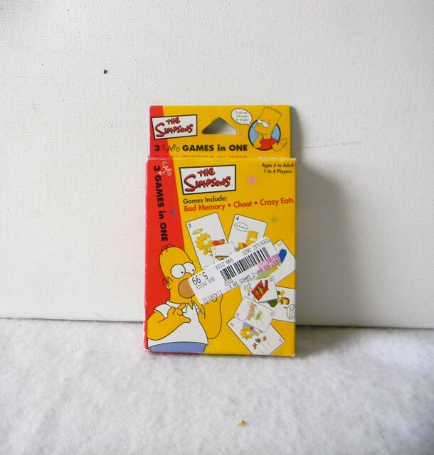 THE SIMPSONS 3-in-1 CARD GAME - BAD MEMORY- CHEAT - CRAZY EATS SEALED DECKS