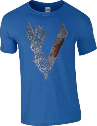 Vikings T Shirt Warrior Logo Ragnar Bjorn Lothbrok Floki History Mens S-5XL Top