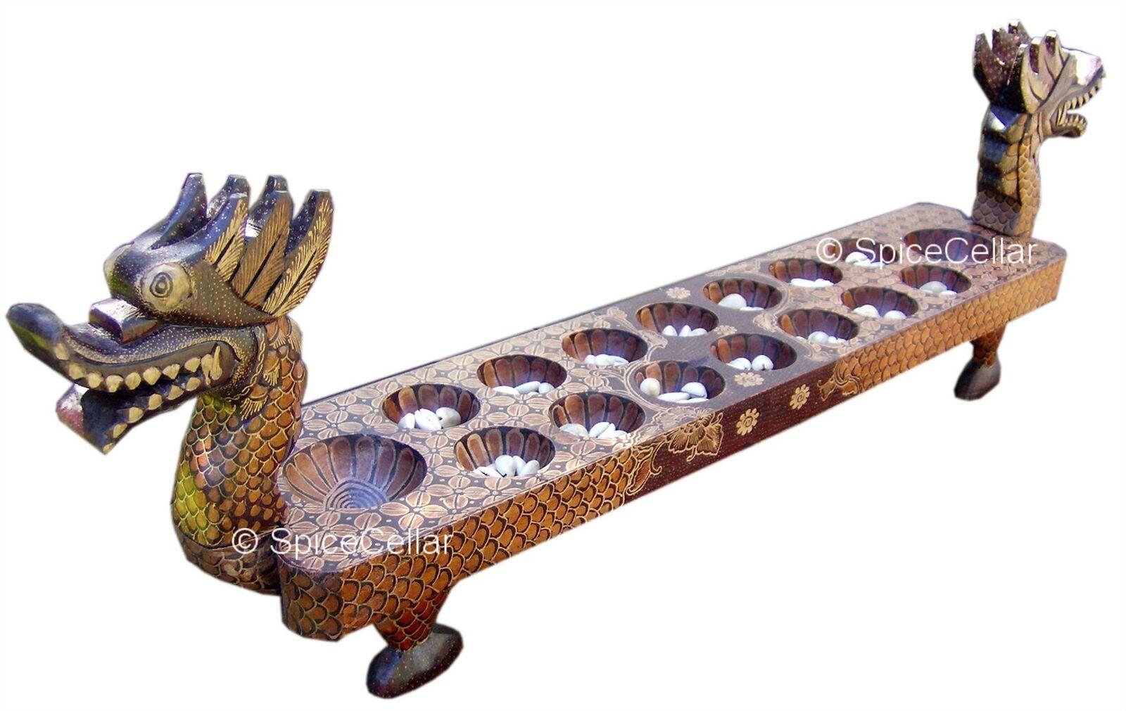 Javan Dakon Game Set - Grand Wooden Dragon with Shells - Traditional Game