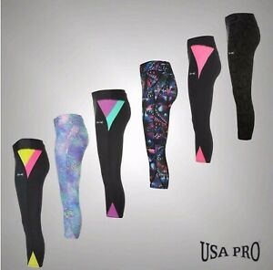 Ladies Umbro Printed Sports Training Stretch Jersey Leggings Sizes from 8 to 16