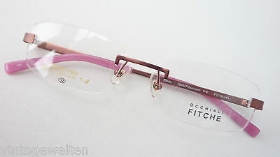 Brille Randlos Fassung Gerade Titan Gestell Nickelfrei Bohrbrille Braun Size M