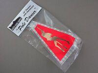10 Flo Red Silver Plaid Flasher pole Dancer Uv Salmon Trolling