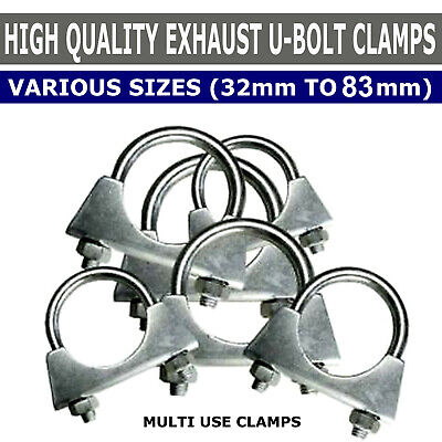Universal U Bolt Exhaust Clamps Heavy Duty Clamp with Nuts 76mm
