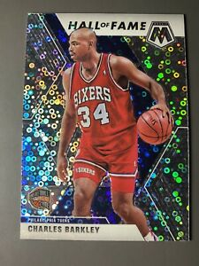 Charles-Barkley-2019-20-Panini-Mosaic-Fast-Break-Silver-Disco-Philadelphia-76ers