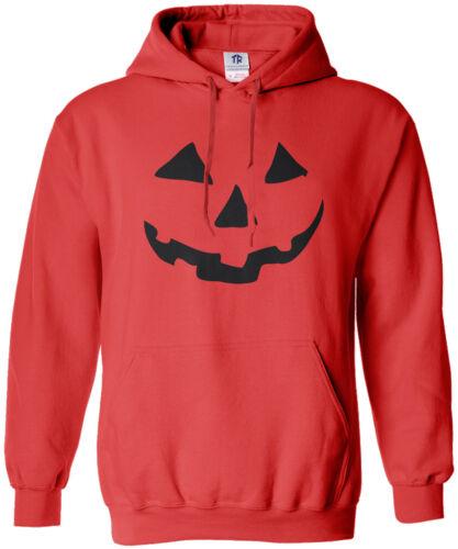 Threadrock Men/'s Halloween Pumpkin Face Hoodie Sweatshirt Jack O Lantern