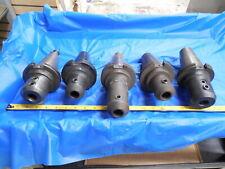 Set Of 5 Cat50 78 Id Solid End Mill Tool Holder Nikken Valenite 8750