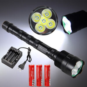 Tactical-10000LM-Super-Bright-LED-Flashlight-Hunting-Camping-Light-Torch-18650