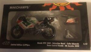 1/12 Minichamps Honda Vtr 1000 Figures Valentino Rossi 8h Suzuka 2000