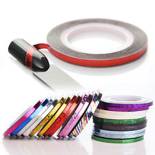 2 Rolls Laser Nail Art Striping Tape Line 3mm Adhesive Decal Manicure Decor Tips