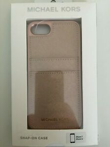 Michael-Kors-Saffiano-Leather-Pocket-Case-iPhone-7-amp-8-Rose-Gold-NEW