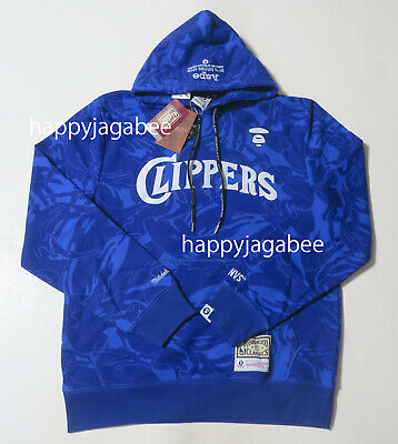A BATHING APE Men/'s AAPE x  Mitchell /& Ness CLIPPERS HOODIE Japan New