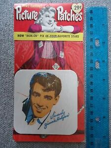 Jimmie Rodgers 1960 Picture Patches Iron-On New Old Stock SEALED FREE SHIPPING