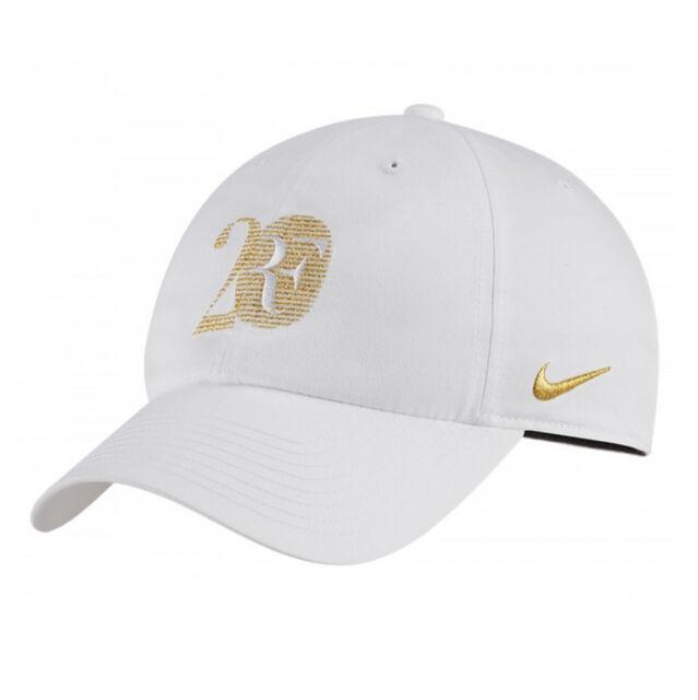 ea0baf84264 Nike Roger Federer Limited Edition 20th Celebration RF Swoosh Tennis Cap  Gold UK