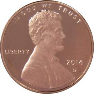 2014 S Lincoln Shield Cent Choice Proof Penny 1c Coin Collectible