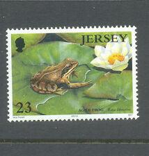 Frog and lily mnh single-Jersey-Amphibians