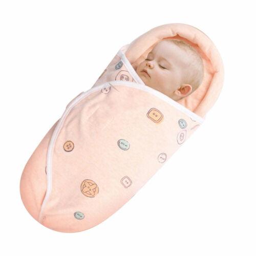Nouveau-né bébé Swaddle Wrap chaud couverture poussette sac couchage sac 0-12 SH