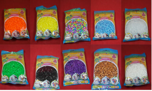 Choose your colours 10 packs of 1000 Genuine Hama Beads