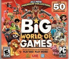 BIG WORLD OF GAMES Over 50 Complete Games Time Management + Match 3 PC DVD NEW