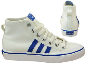 the best attitude d77a1 923a6 Image is loading Adidas-Originals-Nizza-Hi-Mens-Womens-Trainers-Lace-