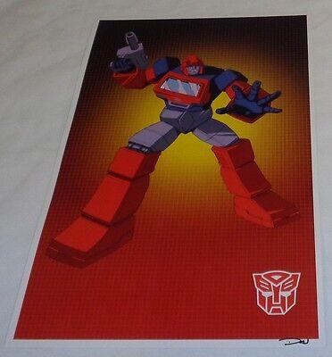 1 G1 Transformers Autobot Optimus Prime Poster Picture 11x17 Box Art Grid