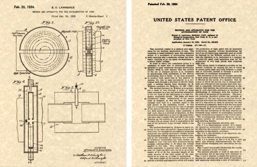 Lawrence Cyclotron Ion Accelerator Lack Kunstdruck Bereit für Rahmen 1934