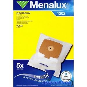 MENALUX-1202-VAC-BAGS-X5-SYNTHETIC-AND-1-FILTER-FOR-ELECTROLUX-AND-VOLTA