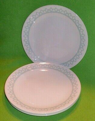 Set Of 5 Corelle Usa Delano Pattern 8 1 2 Salad Luncheon Plates Teal On Ebay