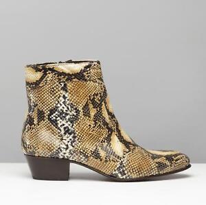 Zu Club Snakeskin Brown Made Boots Emmanuel Leather Spain Cubano Details Mens Heel In Cuban 5R3jqc4ALS