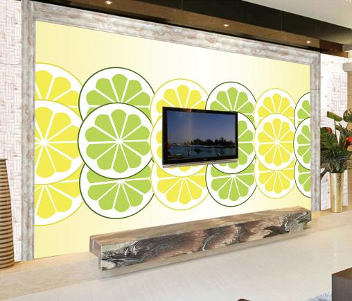 3D Lemon Farbe 665 Wallpaper Murals Wall Print Wallpaper Mural AJ WALL AU Kyra