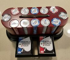 Authentic World Poker Tour Rotating Carousel Poker Chip Set - NEW SEALED!