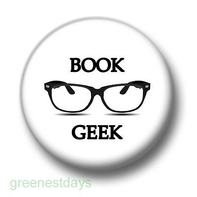 Bookworm Penguin 1 Inch 25mm Pin Button Badge Books Reading Geeks Nerds Cute