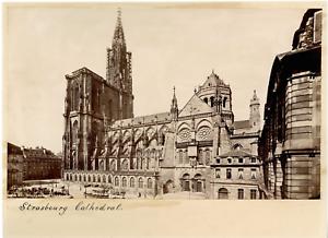 France-Strasbourg-La-Cathedrale-Vintage-albumen-print-Tirage-albumine-1