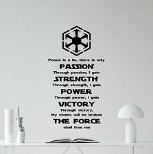 Star Wars Wall Decal Sith Code Vinyl Sticker Movie Poster Quote Decor Art 356xxx