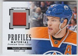 2015-16-UD-PORTFOLIO-TAYLOR-HALL-PATCH-33-PROFILES-MATERIAL-GAME-USED-Devils