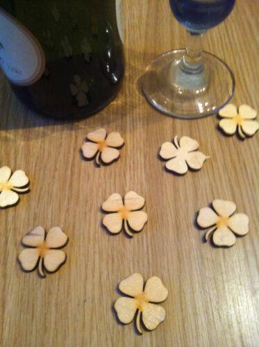 wedding table confetti cardmaking x25 Four Leaf Clover embellishements