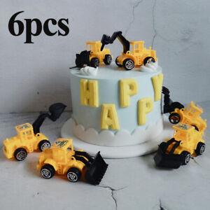 6pcs-Konstruktion-Fahrzeug-Luftballon-Tortenaufsatz-Kind-Geburtstag-Party-Deko